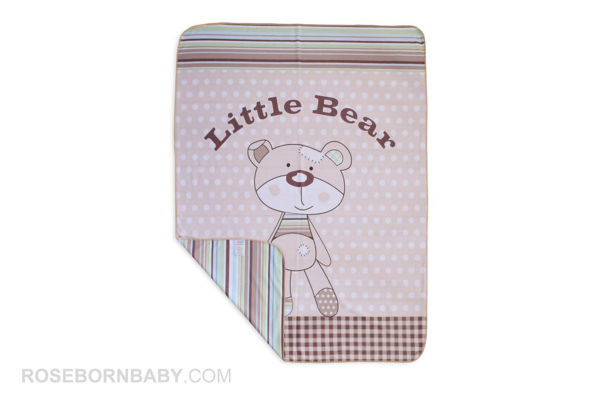 Picture of cotton swaddle blanket little bear