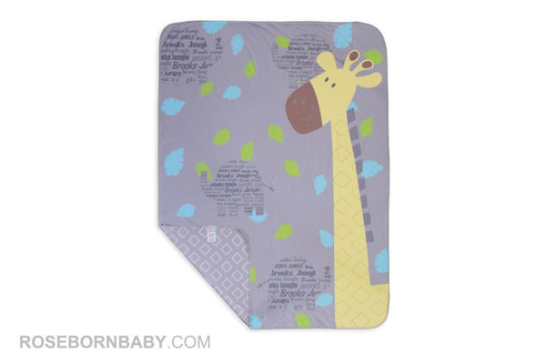Picture of cotton swaddle blanket brooks jungle