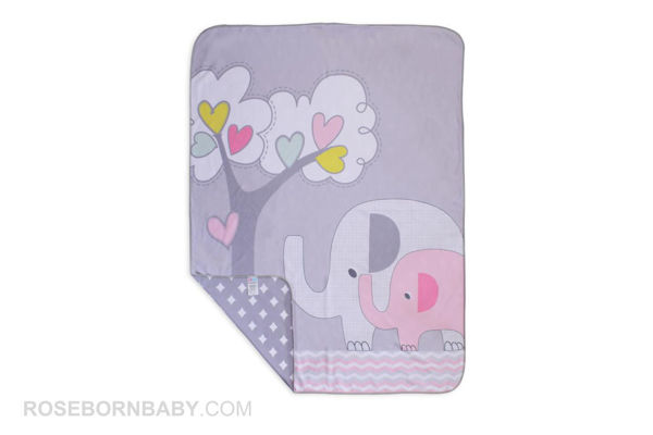 Picture of cotton swaddle blanket family love girl