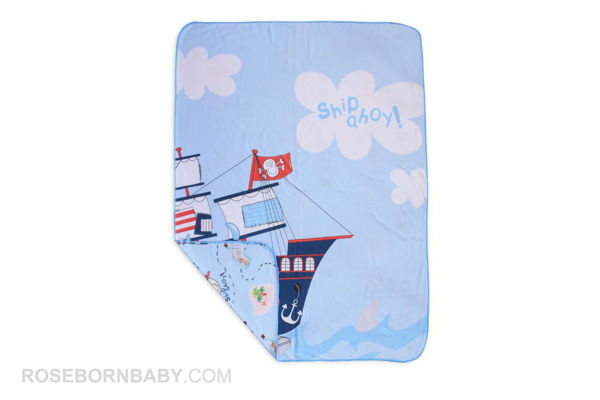 Picture of cotton swaddle blanket pirate ship