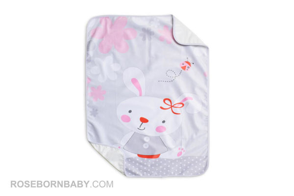 Picture of infant changing mat little bunny