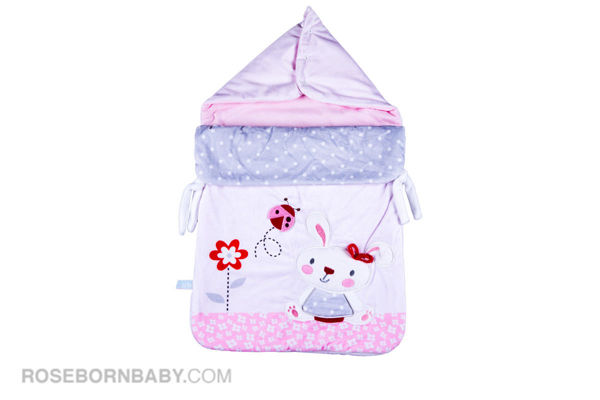 Picture of wrap swaddle zipper blanket little bunny