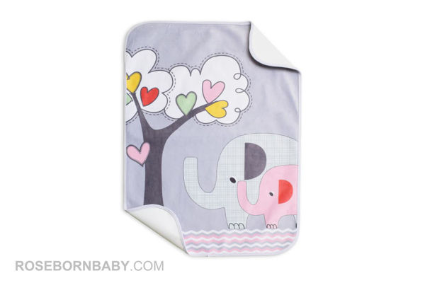 Picture of infant changing mat family love girl