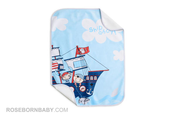 Picture of infant changing mat pirate ship