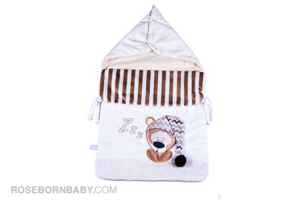 Picture of wrap swaddle zipper blanket lazy bear