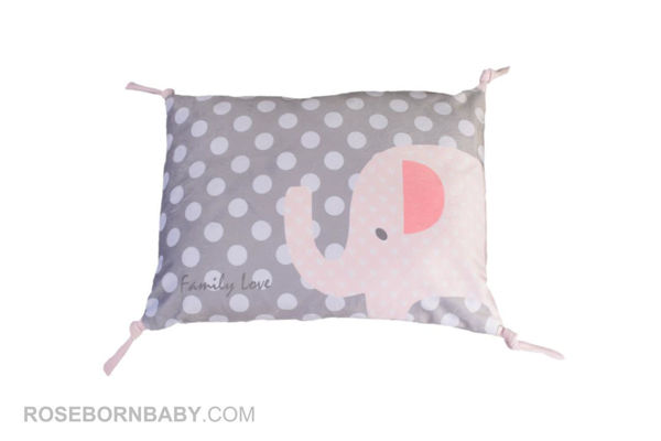 Picture of knot shape pillow family love girl