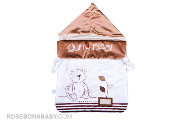 Picture of wrap swaddle zipper blanket gutty bear