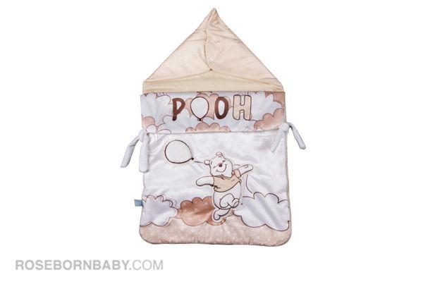 Picture of wrap swaddle zipper blanket hello pooh cream