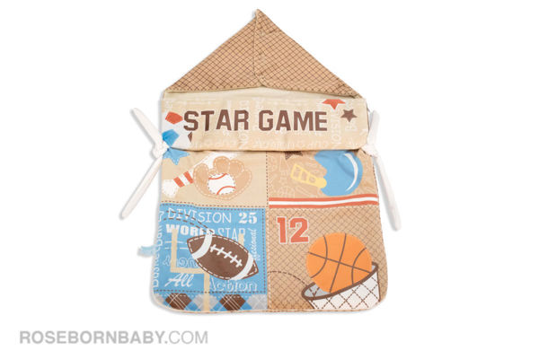 Picture of wrap swaddle zipper blanket star game brown