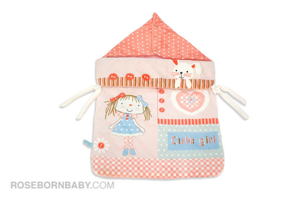 Picture of wrap swaddle zipper blanket cute girl