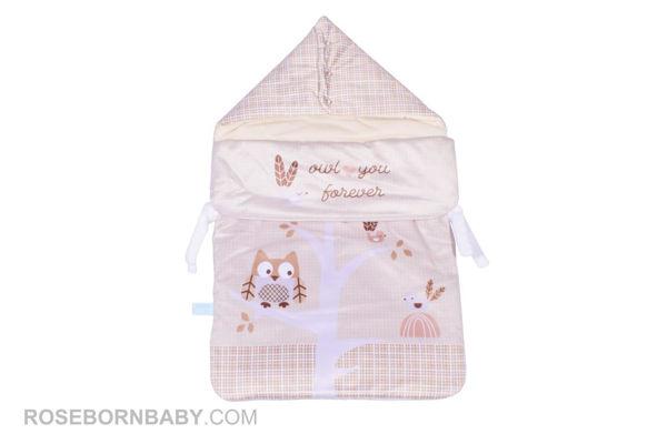 Picture of wrap swaddle zipper blanket boofy owl