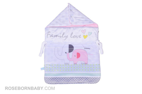 Picture of wrap swaddle zipper blanket family love girl