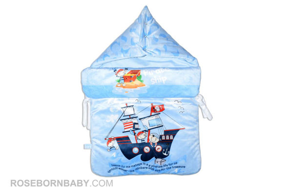 Picture of wrap swaddle zipper blanket pirate ship