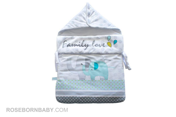 Picture of wrap swaddle zipper blanket family love boy