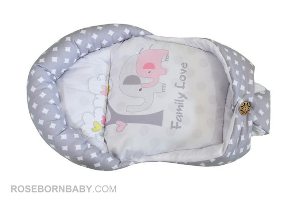 Picture of Swiss swaddle Baby hug butt family love girl
