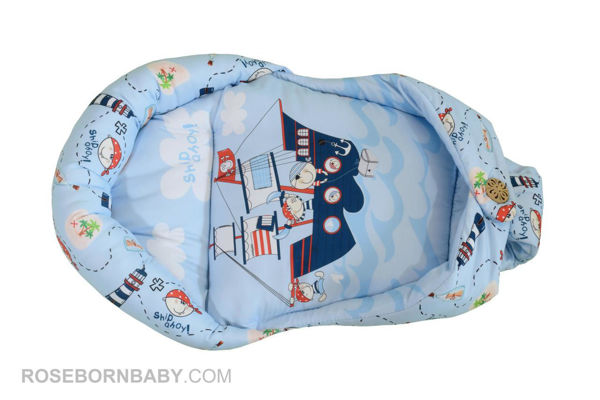 Picture of Swiss swaddle Baby hug butt pirate ship