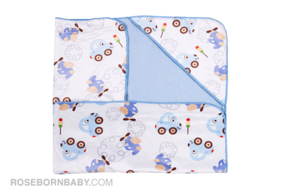 Picture of Hooded swaddle blanket sweet travel