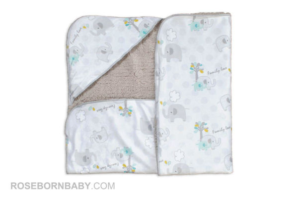 Picture of Hooded swaddle blanket family love boy