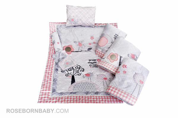 Picture of 7 pieces nursery bedding set live song