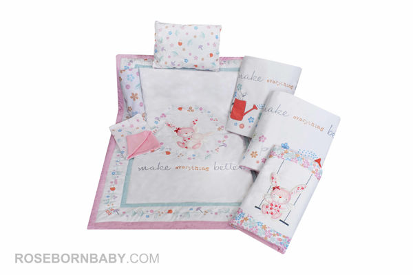 Picture of 7 pieces nursery bedding set merry mom
