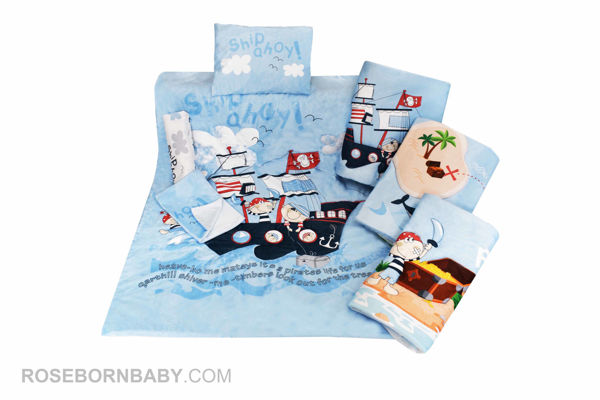 Picture of 7 pieces nursery bedding set pirate ship