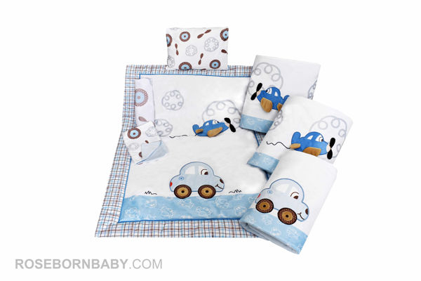 Picture of 7 pieces nursery bedding set sweet travel