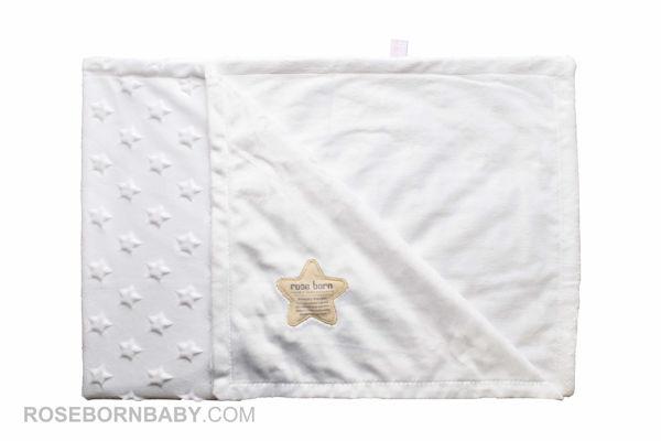 تصویر از پتو ستاره ای برجسته سفید