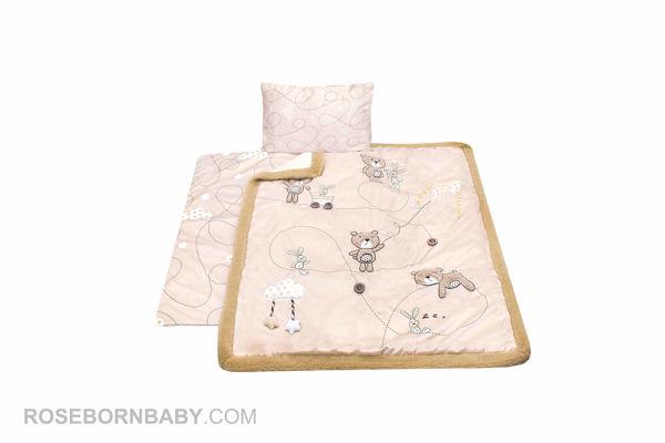 Picture of 3 pieces nursery crib set bear & kite
