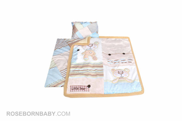 Picture of 3 pieces nursery crib set little bear