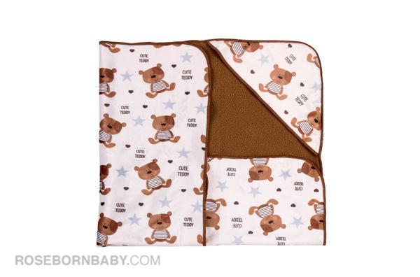 تصویر از پتو دورپیچ کلاه دار  خرس و ستاره