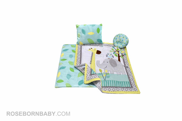 Picture of 4 pieces nursery crib set brooks jungle