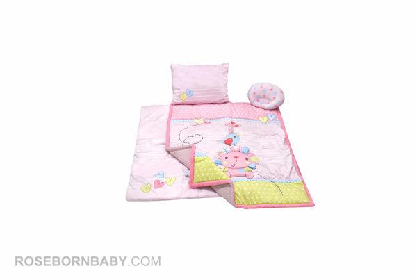 Picture of 4 pieces nursery crib set little lion