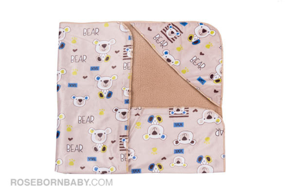 Picture of Hooded swaddle blanket colored foot bear