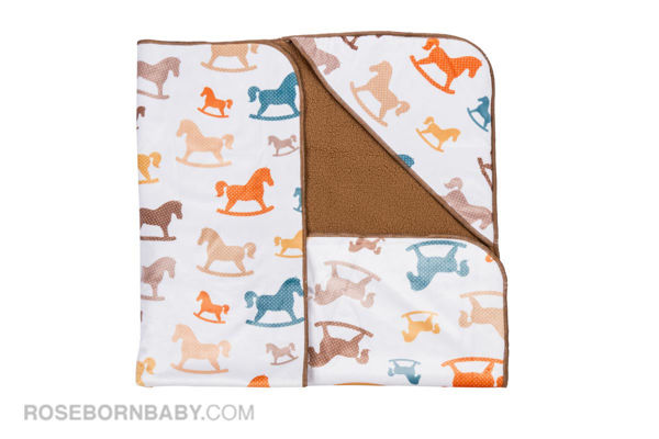 Picture of Hooded swaddle blanket colored horse