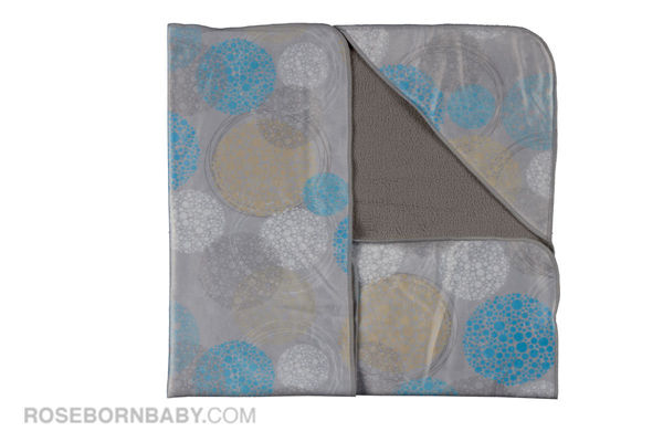 Picture of Hooded swaddle blanket boy bubble circle