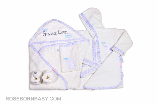 Picture of 5 pieces towels set family love boy