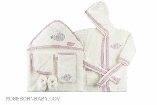 Picture of 5 pieces towels set little bunny